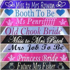 Wedding - Bridesmaid - Hen's Night - Personalised Sash - Any Wording - Any Name