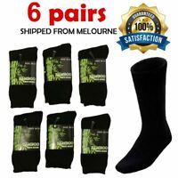 Bamboo Work Socks Heavy Duty Bamboo Socks Thick Winter Socks 6 Pairs New Mens