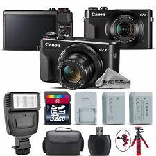 Canon PowerShot G7 X Digital 20.1MP DIGIC 7 Camera + EXT BAT + Flash - 32GB Kit