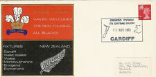RUGBY - 11.11.78 - Wales v New Zealand 1978 commemorative cover