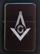 FREEMASON MASONIC  FLIP METAL PETROL LIGHTER