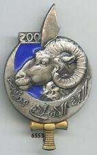 Insigne pionnier nord - africain , 200 BPNA. , ( bleu foncé )