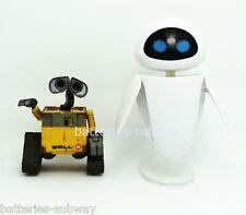 Set of 2 pcs Disney Pixar Wall-E and Eee-Vah EVE Mini Action Figures no box Gift