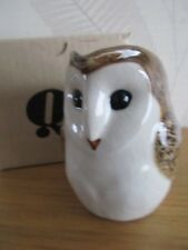 Delightful Barn Owl Cream Jug By Quail Pottery Boxed Great Gift.