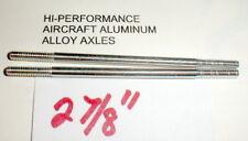 """(2) Hi-Per Aluminum Axles 5:40 thread Vintage 1960's Slot Car NOS  2 7/8"""" Long"""