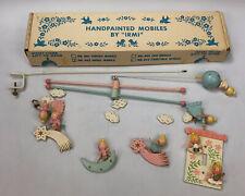 New listing Vintage 1950s Angel Baby Nursery Crib Mobile Hand Painted by Irmi #803 w/ Box Al