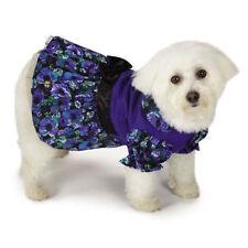 M. Isaac Mizrahi Floral Dot Collection Party Dog Dress Blue XX-Small