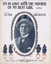 I'm In Love With The Mother Of My Best Girl, Sydney Jarvis, 1913 sheet music