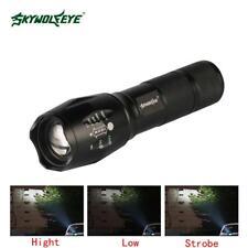 Skywolfeye 10000LM T6 LED Zoomable Flashlight 18650 AAA Battery US Stock GA