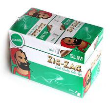 10 x Zig Zag SLIM MENTHOL Cigarette filter TIPS x 150 filters = 1 box