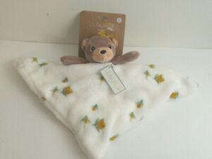 Lila & Jack Security Blanket Teddy Bear Baby Lovey Floral Print