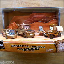 Disney PIXAR Cars RADIATOR SPRINGS BEGINNINGS 3PK TIME TRAVEL MATER diecast RARE