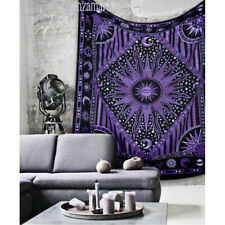 Twin Size Indian Ethnic Wall Hanging Tapestry Mandala Bedspread Tapestries Throw
