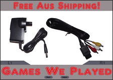 AV Cables Cord Leads for N64 SNES GameCube RCA 1.8m Aftermarket Nintendo