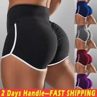 Women High Waist Yoga Shorts Butt Lift Ruched Pants Casual Gym Workout Leggings