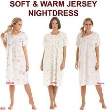 Short Sleeve Nightdress Warm Womens Nightie Ladies Nightwear Soft Size 10 - 28