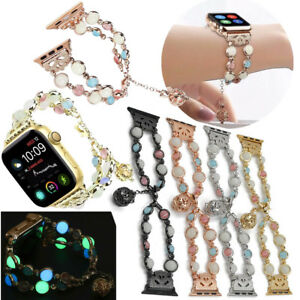 Luminous Night Pearl Bracelet Strap For Apple Watch Band Series 4 3 2 1 44/40mm