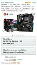 MSI MPG X570 GAMING PRO CARBON WIFI ATX, AM4, DDR4, LAN and WIFI USB 3.2 Gen2