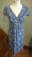 Boden cotton blue floral style summer dress size 10UK