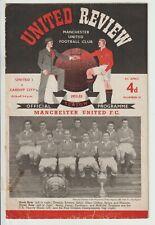 More details for manchester united v cardiff city rare division one 1952/53 duncan edwards debut