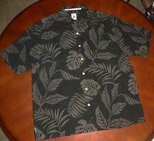 #1251- NEW JAMAICA JAXX Obsidian Black Floral Hawaiian Shirt-sz XL