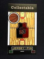 Chicago Bulls Michael Jordan jersey lapel pin-#1 Collectable-FREE shipping
