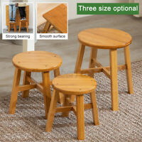Wooden Stool Chair Fishing Rest Seat Bamboo Base Home Kitchen Bathroom S/M/L L