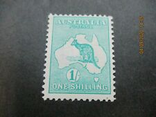 Kangaroo Stamps: 1/- Green 1st Watermark Mint  - Great Item   (n55)