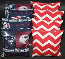 8 All Weather Cornhole Beanbags made w New England Patriots Fabric Aca Reg Bags