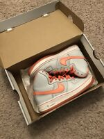Nike Air Force 1 High top (GS) Size 4Y. 653998-003. Orange Metallic with box