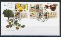 ISRAEL STAMPS 2003 FESTIVALS OLIVE OIL TREE 3 STAMPS ON FDC