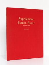 Supplément Sumer-Assur Mise à jour 1969, André PARROT. Col. L'Univers des formes