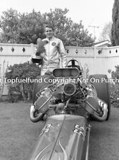 Rapp Rossi Gary Gabelich Close Up Purple Gang 8x10 Photo Vintage NHRA Dragster