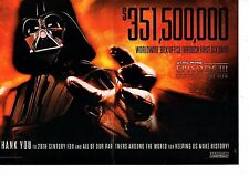 STAR WARS III 3 REVENGE OF THE SITH Collectible Print Ad  351500000 1st 6 days
