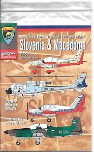 Former Yougoslavie 1991-99, Slovénie Et Macédoine Af Marques, Décalque Set 1/72