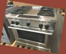 "Never Used Kitchenaid Dual Fuel Stainless 36"" Range With Griddle Self Cleaning"