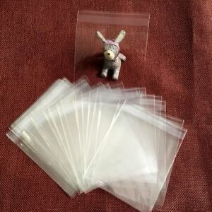 Clear Plastic Bags Small Cookies Cupcake Packaging Transparent Gifts Bag 100pcs