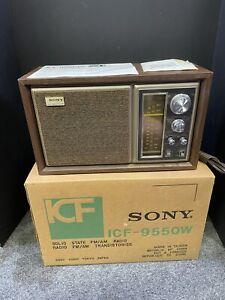 Vintage Sony Model ICF-9550W High Fidelity FM/AM Table Radio New In Box 1976