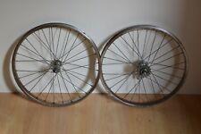 """Vintage Schurmann 20"""" Folding Bike Steel Wheels Pair 16T Rear (For Restoration)"""