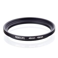 RISE(UK) 46mm-49mm 46-49 mm 46 to 49 Step Up Ring Filter Adapter black