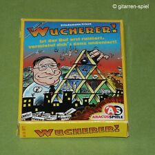 Wucherer! Kartenspiel von Friedemann Friese Abacusspiele ©1997 rar 1A Top!