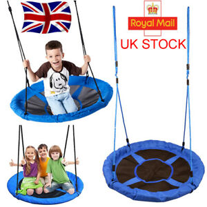 900D Oxford Children's Rope Swing Round Kids Game Tree Spin Playroom 100cm
