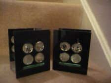 A WONDERFUL PAIR OF GLASS CANDLE TEA LIGHT HOLDERS