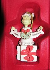 Lenox A Grinchy Gift Grinch Ornament New in Box Dr. Seuss