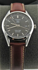 Tag Heuer Carrera Auto Twin Time calibre 7 Brown Leather GMT Watch WV2115.FC6203