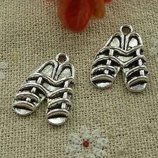 free ship 1000 pcs tibetan silver shoes charms 20x15mm #2957