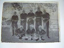 Vintage Glass Negative 1921 3rd Club Cricketers Hurstpierpoint College Cricket