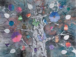 Kerry Darlington picture Original  - Nightfall - Mixed media - tree of life