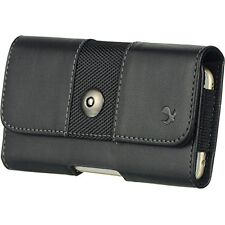 Black4 Horizontal BeltClip Holster Leather Pouch Case for Samsung Galaxy S6 Edge