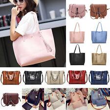 Women's Faux Leather Work Handbag Shoulder Tote Bag Messenger Cross Body Bags